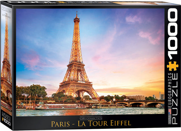 Paris Eiffel Tower Puzzle 1000 Piece Puzzle by Eurographics