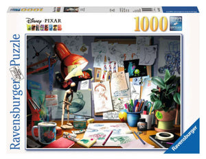 Disney Pixar The Artist's Desk 1000 Piece Puzzle by Ravensburger