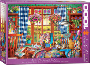 Quilting Craft Room 1000 Piece Puzzle by Eurographics