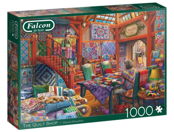 The Quilt Shop 1000 Piece Puzzle by Falcon