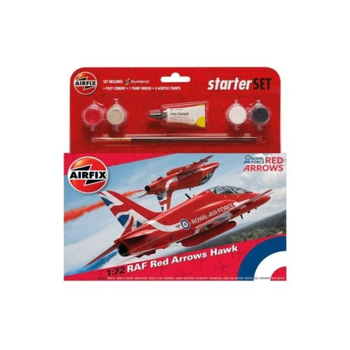 Airfix Medium Starter Kit RAF Red Arrows Hawk Model Set 1:72 Scale