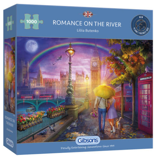 Romance On The River 1000 Piece Puzzle By Gibsons