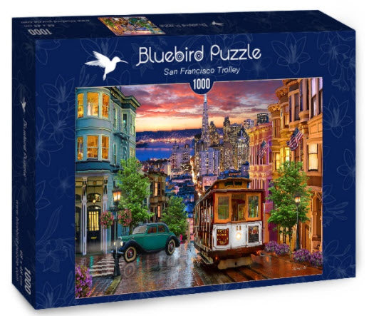 San Francisco Trolley 1,000 Piece Puzzle by Bluebird Puzzle
