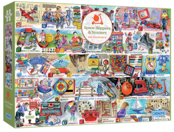 Space Hoppers & Scooters 1000 Piece Puzzle By Gibsons