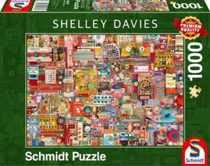 **NEW** Shelly Davies Vintage Sewing Supplies 1000 Piece Puzzle by Schmidt