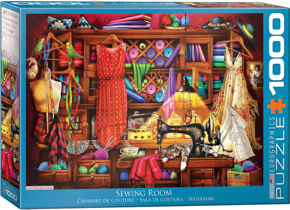 Sewing Craft Room 1000 Piece Puzzle by Eurographics
