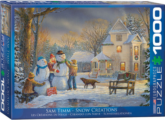 Snow Creations 1000 Piece Puzzle by Eurographics