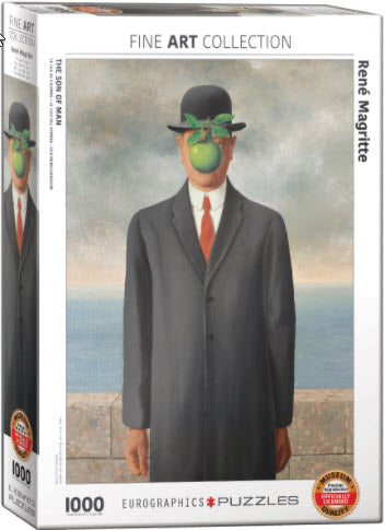 Son of Man by Rene Magritte 1000 Piece Puzzle by Eurographics