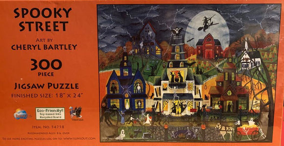 Spooky Street by Cheryl Bartley XXL 300 Piece Puzzle by Sunsout