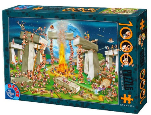 Stonehenge Cartoon Collection 1000 Piece Puzzle by D-Toys