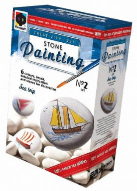 Stone Painting Kit-Travel At Sea by Fantazer
