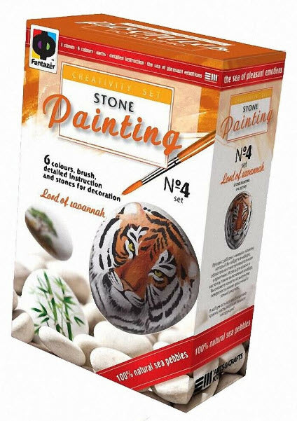 Stone Painting Kit-Lord of the Savannah by Fantazer