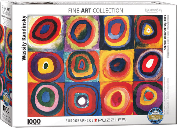 Colour Study Of Squares 1000 Piece Puzzle by Eurographics