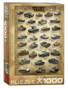World War II Tanks 1000 Piece Puzzle by Eurographics