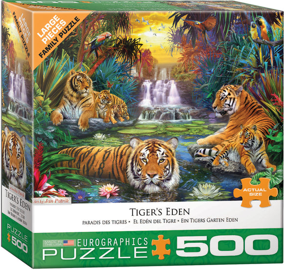 Tiger's Eden 500 Piece Puzzle by Eurographics