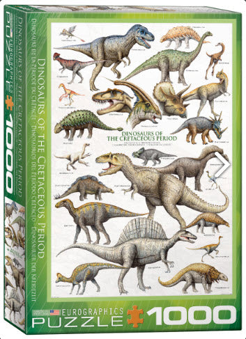 Dinosaurs of the Cretaceous Period 1000 Piece Puzzle by Eurographics