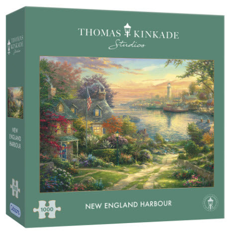 New England Harbour by Thomas Kinkade 1000 Piece Puzzle By Gibsons