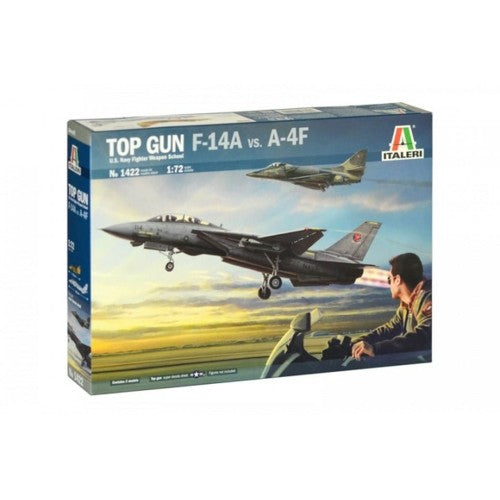 Italeri Top Gun F-14A VS A-4F Navy Fighter Weapons School Top Gun Kit 1:72 Scale