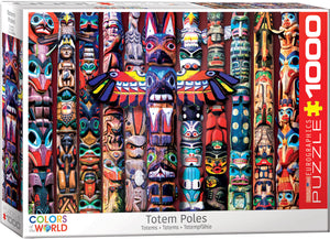 Totem Poles 1000 Piece Puzzle by Eurographics