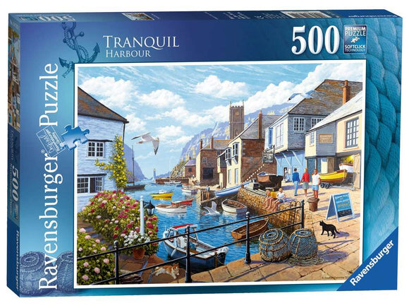 Tranquil Harbour 500 Piece Puzzle by Ravensburger