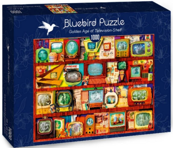 Golden Age of Television-Shelf 1000 Piece Puzzle by Bluebird Puzzle
