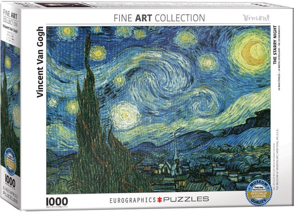 Starry Night Van Gough 1000 Piece Puzzle by Eurographics