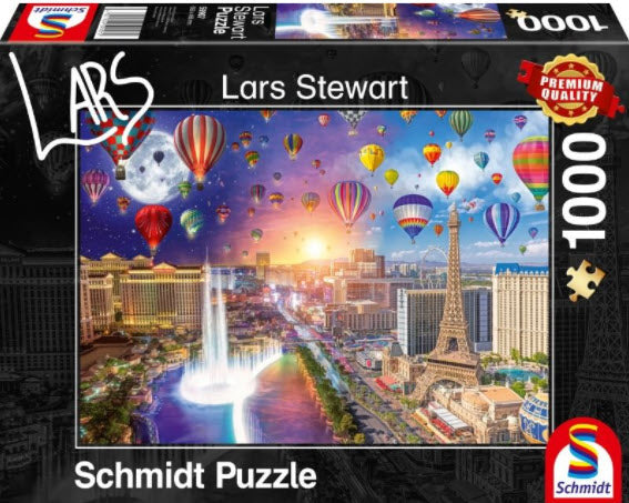 **NEW** Lars Stewart Las Vegas Night & Day 1000 Piece Puzzle by Schmidt