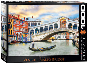 Venice Rialto Bridge 1000 Piece Puzzle by Eurographics