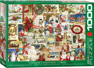 Vintage Christmas Cards 1000 Piece Puzzle by Eurographics