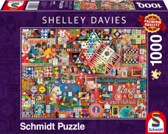**NEW** Shelly Davies Vintage Board Games 1000 Piece Puzzle by Schmidt