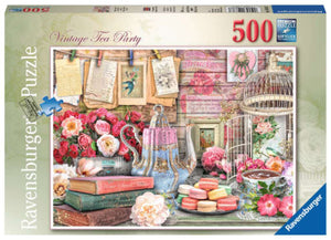 Vintage Tea Party 500 Piece Puzzle by Ravensburger