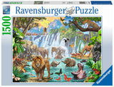 Waterfall Safari 1500 Piece Puzzle by Ravensburger