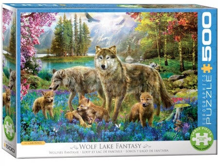 Wolf Lake Fantasy 500 XL Piece Puzzle by Eurographics
