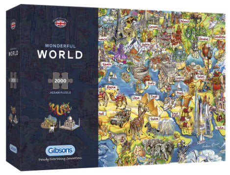 Wonderful World 2000 Piece Puzzle By Gibsons