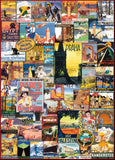 Travel Around the World Vintage Posters 1000 Piece Puzzle By Eurographics