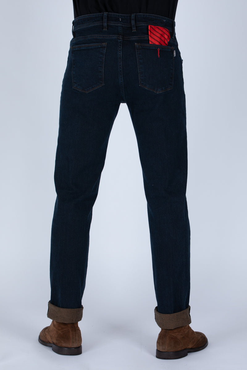 DENIM PLACATO BROWN