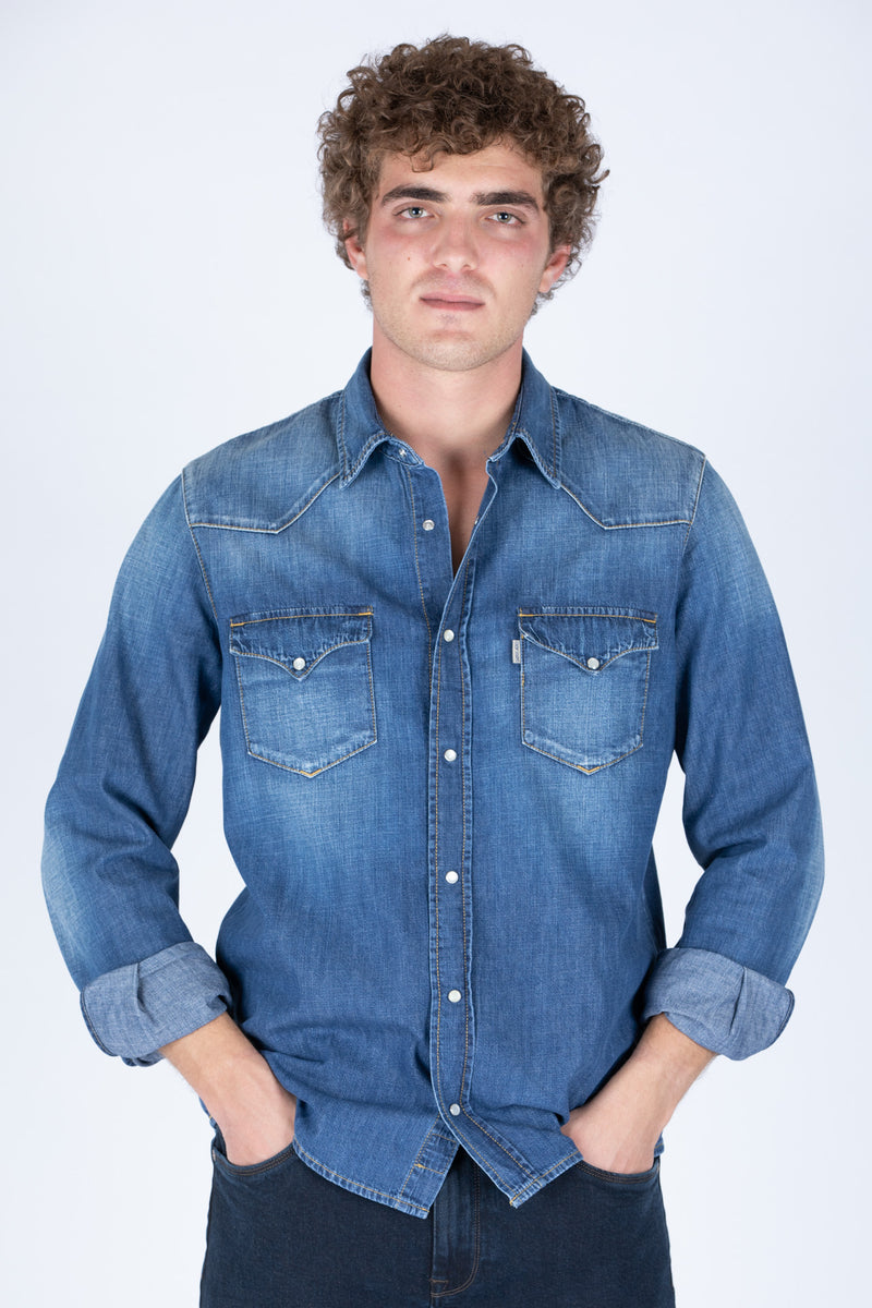 CAMICIA TEXANA DENIM - Barmas