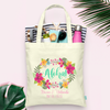 Aloha Floral Destination Wedding -Hawaii Wedding Welcome Tote Bag