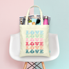 Multi Love Tote Bag