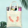 From to With Love Destination Map Wedding Tote Bag