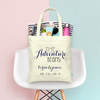 The Adventure Begins Wedding Welcome Tote Bag