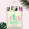 Hola Beaches Pineapple Bachelorette Tote Bag