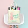 Retro Pineapple Destination Wedding Tote Bag