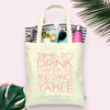 Time to Drink Champagne -Wedding Tote Bag