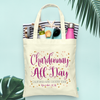 Chardonnay All Day Confetti -Wine Country Vineyard Bachelorette Tote Bag