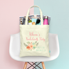 Modern Floral Bachelelorette Party Tote Bag