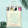 Toes in the Sand Drink in Hand -Bachelorette Totes