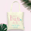 Bride to Be Future Mrs Wedding Tote Bag