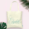 Fancy Personalized Bridal Party Wedding Tote Bag