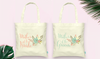 Floral Mother of the Bride & Groom Tote Bag Set